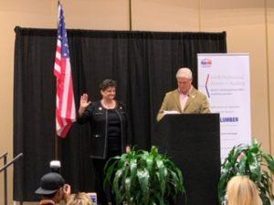 Betsy Sheppard sworn in